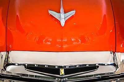 1955 Studebaker Champion Conestoga Custom Wagon Hood Ornament - Grille Emblem -0325c Print by Jill Reger