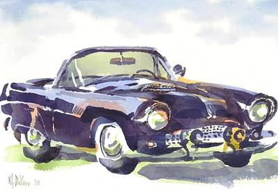 Convertible Painting - 1955 Thunderbird by Kip DeVore