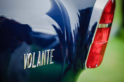 1956 Aston Martin Short Chassis Volante Taillight Emblem Print by Jill Reger