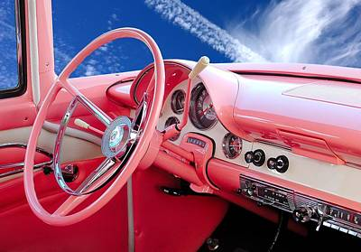 Ford Street Rod Photograph - 1956 Ford Crown Victoria Interior by Jim Hughes