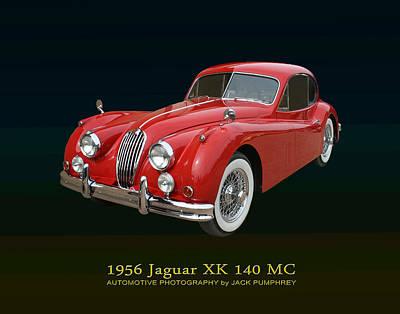 1956 Jaguar X K 140 M C Print by Jack Pumphrey