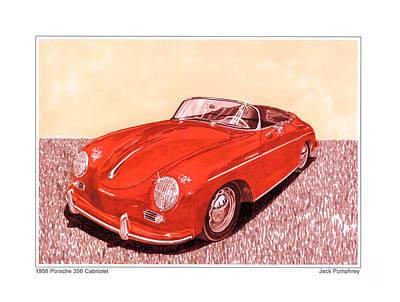 1956 Porsche 356 Cabriolet Original by Jack Pumphrey