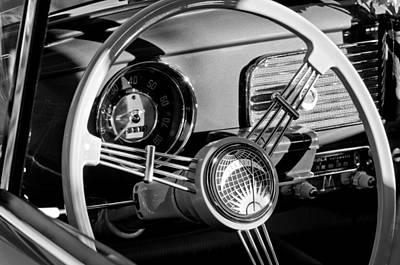 1956 Volkswagen Vw Bug Steering Wheel Emblem Print by Jill Reger