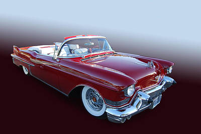 1957 Cadillac Convertible Print by Bill Dutting