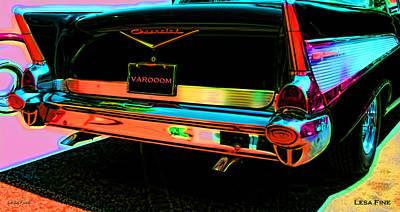 1957 Chevy Bel Air -red Varooom Print by Lesa Fine