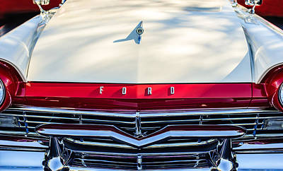 Ford Custom Photograph - 1957 Ford Custom 300 Series Ranchero Grille Emblem by Jill Reger