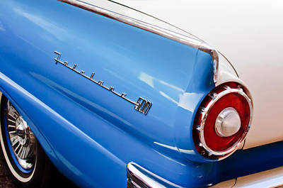 Ford Fairlane Photograph - 1957 Ford Fairlane Taillight Emblem by Jill Reger