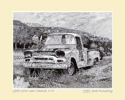 1957 G M C Pick Up Truck Print by Jack Pumphrey