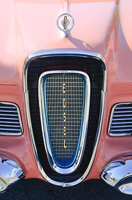 1958 Photograph - 1958 Edsel Pacer Grille Emblem by Jill Reger