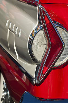 Historic Vehicle Photograph - 1958 Edsel Wagon Tail Light by Jill Reger