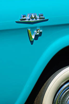 1958 Gmc Series 101-s Pickup Truck Side Emblem Print by Jill Reger