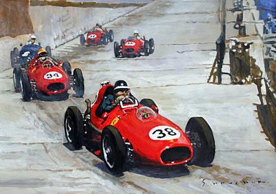 1958 Monaco Gp  Print by Yuriy Shevchuk
