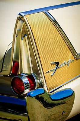 Fury Photograph - 1958 Plymouth Fury Golden Commando Taillight Emblem -3467c by Jill Reger