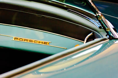 1958 Porsche 356 A Speedster Dash Emblem Print by Jill Reger