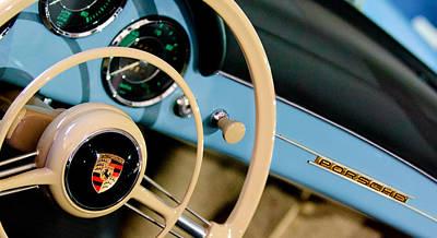 1958 Porsche 356 A Speedster Steering Wheel Emblem Print by Jill Reger
