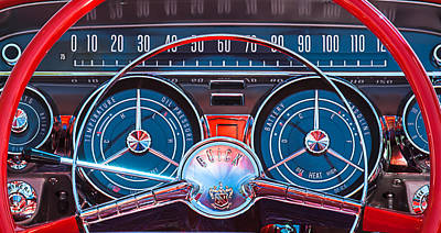 1950 Photograph - 1959 Buick Lesabre Steering Wheel by Jill Reger