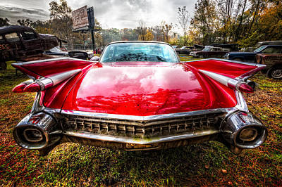 1959 Cadillac Print by Debra and Dave Vanderlaan