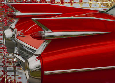 Caddy Digital Art - 1959 Cadillac by Jack Zulli