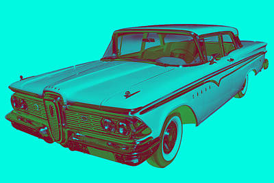 Antique Automobiles Photograph - 1959 Edsel Ford Ranger Modern Popart by Keith Webber Jr
