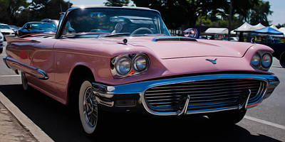 1959 Ford Thunderbird Convertible Print by Joann Copeland-Paul