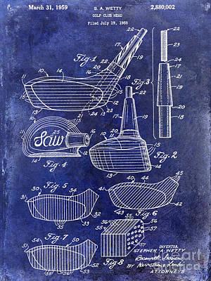 1959 Golf Club Patent Drawing Blue Print by Jon Neidert