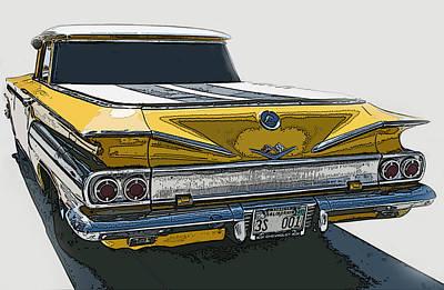 1960 Chevrolet El Camino Print by Samuel Sheats