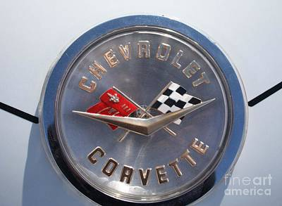 1960 Chevy Corvette Emblem Print by John Telfer