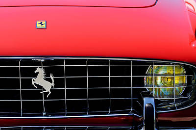 1960 Ferrari 250 Gt Cabriolet Pininfarina Series II Grille Emblem Print by Jill Reger