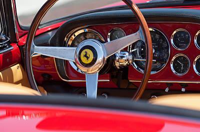 1960 Ferrari 250 Gt Cabriolet Pininfarina Series II Steering Wheel Emblem Print by Jill Reger