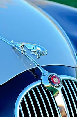 1960 Jaguar Mk II 2.4-liter Saloon Grille Emblem - Hood Ornament Print by Jill Reger