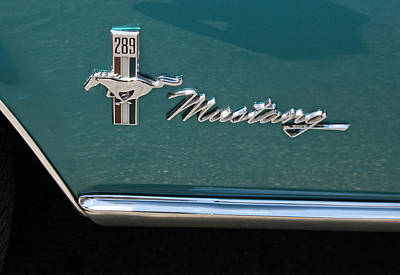 Silver Turquoise Photograph - 1960 Mustang  by Suzanne Gaff