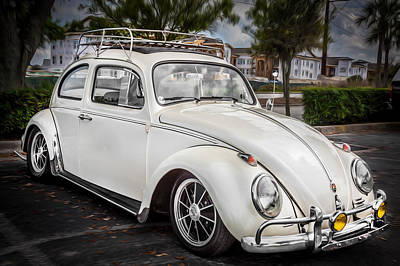 1960 Volkswagen Beetle Vw Bug    Print by Rich Franco