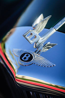 Bentley Photograph - 1961 Bentley S2 Continental Hood Ornament - Emblem by Jill Reger