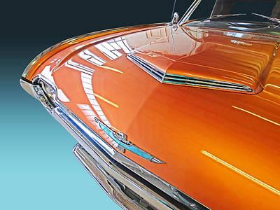 1961 Thunderbird Reflections Print by Gill Billington