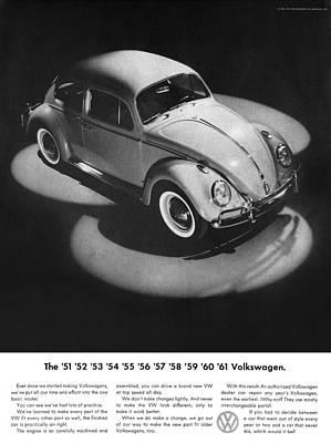 Vw Digital Art - 1961 Volkswagen Beetle by Digital Repro Depot