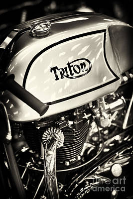 60s Photograph - 1962 650cc Triton Cafe Racer by Tim Gainey