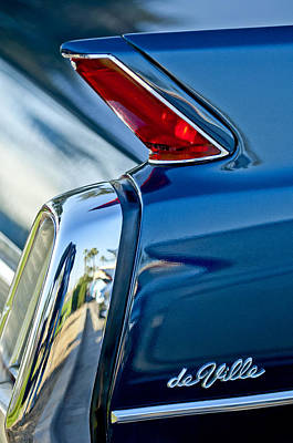 Collector Car Photograph - 1962 Cadillac Deville Taillight by Jill Reger