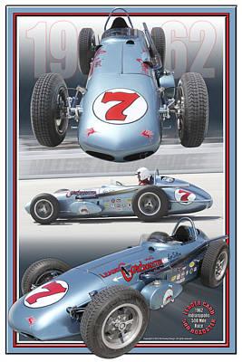 Sutton Digital Art - 1962 Leader Card 500 Roadster by Ed Dooley