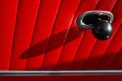 1963 Chevrolet Corvette Split Window Door Latch -295c Print by Jill Reger