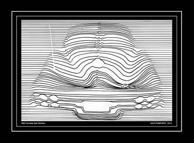 1963 Corvette Split Window Abstract Print by Jack Pumphrey