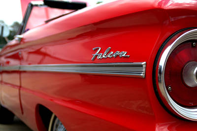 1963 Ford Falcon Name Plate Print by Brian Harig