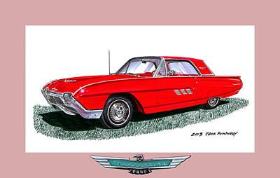 Icon Mixed Media - 1963 Ford Thunderbird by Jack Pumphrey