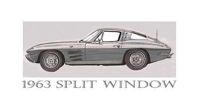 1963 Split Window Print by Jack Pumphrey