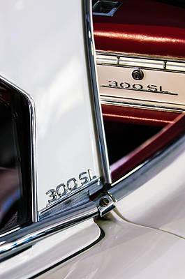 Mercedes Benz 300 Classic Car Photograph - 1963 Mercedes-benz 300 Sl Roadster Emblems by Jill Reger