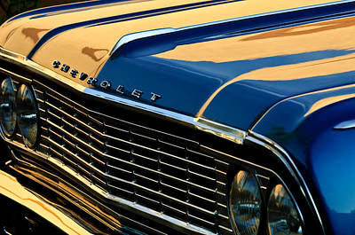 1964 Chevrolet Chevelle Grille Print by Jill Reger