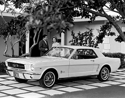 Mid Adult Women Photograph - 1964 Ford Mustang by Underwood Archives
