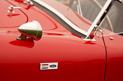 1964 Shelby Cobra 289 Street Roadster Emblem Print by Jill Reger