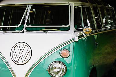 1964 Volkswagen Vw Samba 21 Window Bus Print by Jill Reger