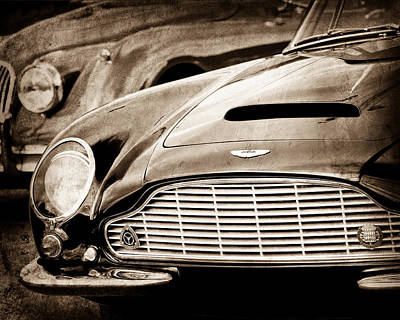1965 Aston Martin Db6 Short Chassis Volante Grille Print by Jill Reger