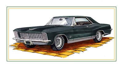 1965 Buick Riviera Custom Print by Jack Pumphrey